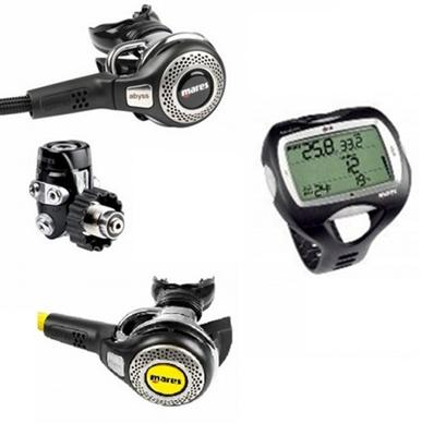 Mares abyss 52 din incl octopus abyss und mares nemo wide - Mares nemo wide dive computer ...