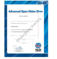 PADI Certificate - Advanced Open Water Diver  -  40079