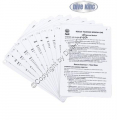 PADI Cue Cards - Rescue Diver Instructor (11 Slates)  (Deutsch) - 60205G