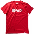 PADI Corporate original TEE Men (weiß auf rot / XS)