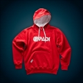 PADI Genuine corporate Hoodie - Men (weiß auf rot / L)